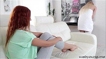 Лесбиянка связала телку и чпокнула ее